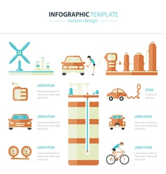 Eco car infographic vector