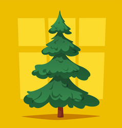 empty christmas tree cartoon vector image