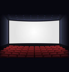 empty cinema theatre film presentation scene with vector image