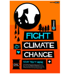 Fight climate change vector