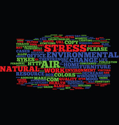 Five ways to reduce environmental stress text vector