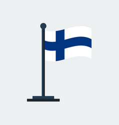 flag of finlandflag stand vector image