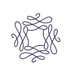 Flourish monoline frame hand vector