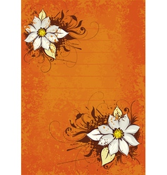 flower orange background vector image