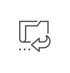 Folder data recovery line outline icon vector