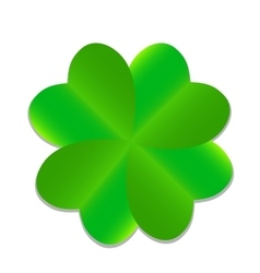 Four-leaf Green Clover vector