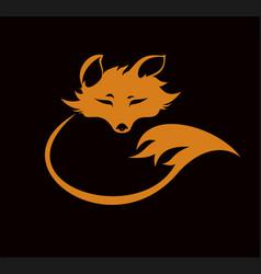 Fox emblem vector