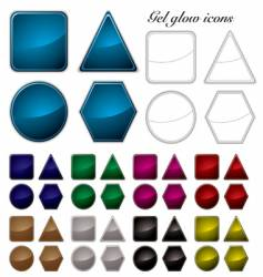 gel glow icons vector image
