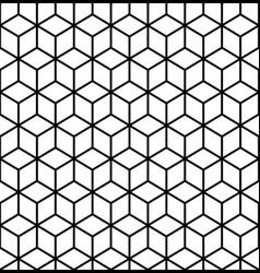 geometric pattern cube seamless pattern vector image