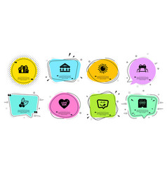 Give present carousels and christmas holly icons vector