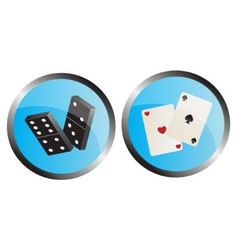 Icon depicting the dominoes and playing cards vector