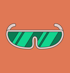 icon in flat design ski goggles vector image