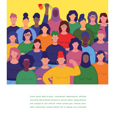 International women s day group women s with vector