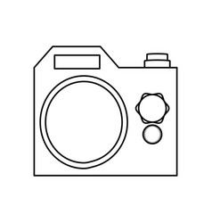 isolated cute camera vector image