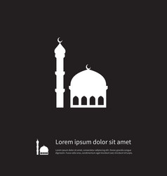 isolated mosque icon traditional element vector image