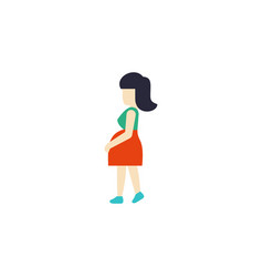 Isolated pregnancy flat icon mother vector