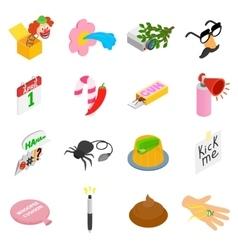 Joke icons set vector