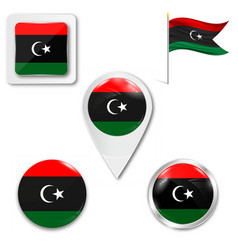 Libya august 2011 - new flag after vector