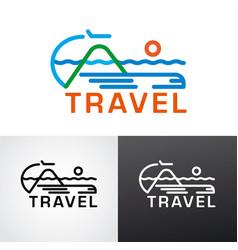 Logo for travel vector