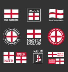 made in england icon set in england product vector image
