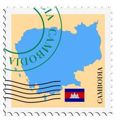 mail to-from Cambodia vector image