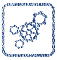 Mechanism fabric textured icon vector