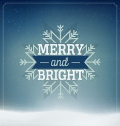 Merry Christmas card vector