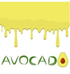 On theme falling runny avocado drip at sugary cow vector
