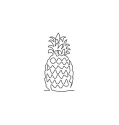 one continuous line drawing whole healthy organic vector image