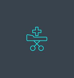 patient transportation concept blue line icon vector image
