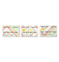 pattern credit card in abstract style vector image