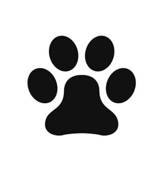 paw print icon in modern design style for web vector image
