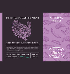 premium quality meat abstract poultry vector image