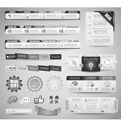 Quality clean web elements for blog and sites vector