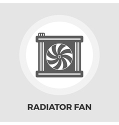 Radiator fan icon vector