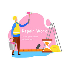 repair work advertisement banner concept vector image