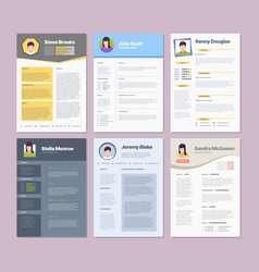 Resume template modern clean design layout for vector