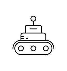 robot tech car icon - artificial vector image