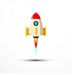 rocket launch icon - symbol vector image