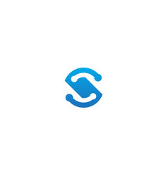 s technology initial company logo vector image