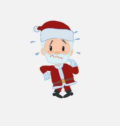 Santa claus scared vector
