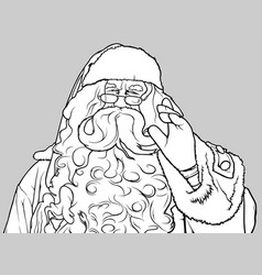Santa claus waving vector
