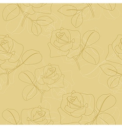 seamless light olive texture with flowers vector image