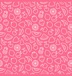 seamless pattern with contours of fruit vector image