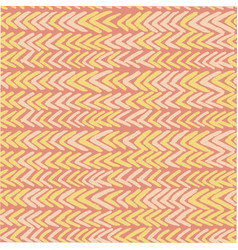 Seamless pattern with ikat ribs in orange vector