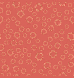 seamless red flower mandala for print on textile vector image