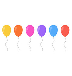 set cartoon balloons in different colors vector image