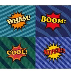 Set of comic bubbles in pop-art style vector