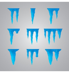 Set of icicles vector