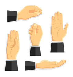set of isolated hands vector image